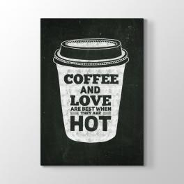 Siyah Tahta Kahve Bardağı Tablosu
